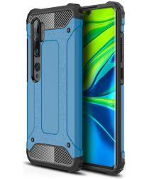 Xiaomi Mi Note 10 Lite Hoesje Shock Proof Hybride Back Cover Blauw