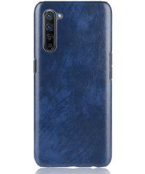 Oppo Reno 3 / Find X2 Lite Hoesje met Kunstleer Coating Blauw