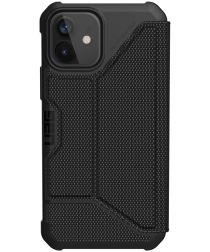 Urban Armor Gear Metropolis iPhone 12 / 12 Pro Hoesje Carbon Zwart