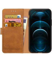 Rosso Element iPhone 12 Pro Max Hoesje Book Cover Lichtbruin