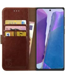 Rosso Element Galaxy Note 20 Hoesje Book Cover Wallet Case Bruin
