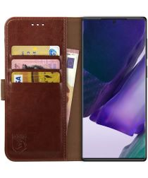 Rosso Element Galaxy Note 20 Ultra Hoesje Book Cover Wallet Case Bruin