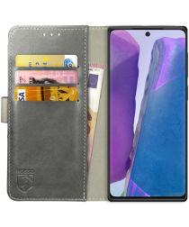 Rosso Element Galaxy Note 20 Hoesje Book Cover Wallet Case Grijs