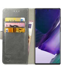 Rosso Element Galaxy Note 20 Ultra Hoesje Book Cover Wallet Case Grijs