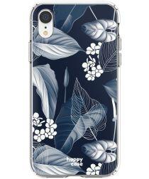 HappyCase Apple iPhone XR Hoesje Flexibel TPU Blue Leaves Print