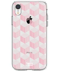 HappyCase Apple iPhone XR Hoesje Flexibel TPU Blokjes Print