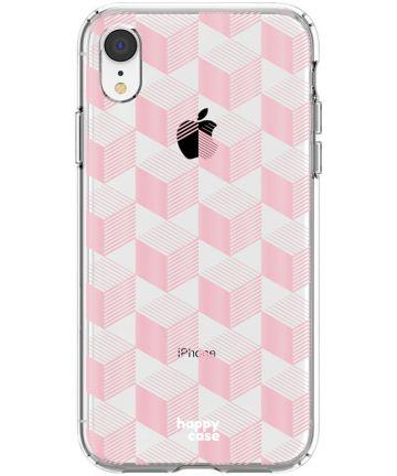 HappyCase Apple iPhone XR Hoesje Flexibel TPU Blokjes Print Hoesjes