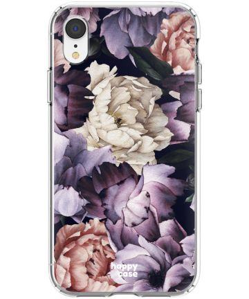 HappyCase Apple iPhone XR Flexibel TPU Hoesje Flower Print