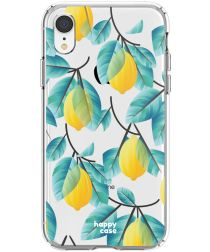 HappyCase Apple iPhone XR Flexibel TPU Hoesje Citroen Print