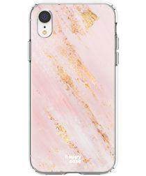 HappyCase Apple iPhone XR Hoesje Flexibel TPU Pink Marmer Print