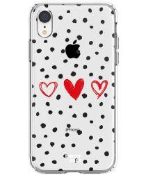 HappyCase Apple iPhone XR Flexibel TPU Hoesje Stip Hartjes Print