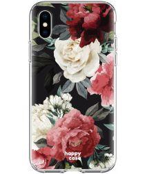 HappyCase Apple iPhone XS Flexibel TPU Hoesje Rozen Print