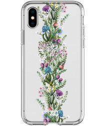 HappyCase Apple iPhone XS Flexibel TPU Hoesje Floral Print