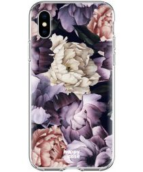 HappyCase Apple iPhone XS Flexibel TPU Hoesje Flower Print