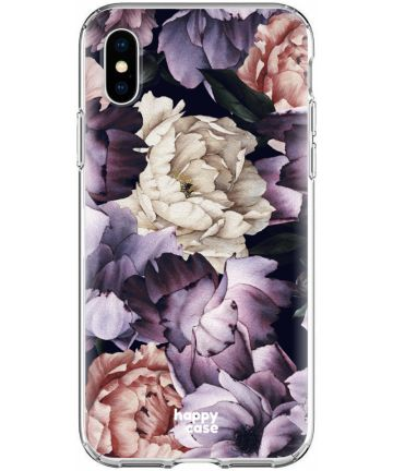 HappyCase Apple iPhone XS Flexibel TPU Hoesje Flower Print Hoesjes
