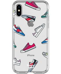 HappyCase Apple iPhone XS Flexibel TPU Hoesje Sneaker Print
