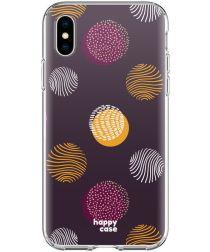 HappyCase Apple iPhone XS Flexibel TPU Hoesje Cirkels Print
