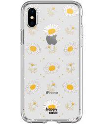 HappyCase Apple iPhone XS Flexibel TPU Hoesje Bloemen Print