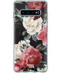 HappyCase Galaxy S10 Flexibel TPU Hoesje Rozen Print
