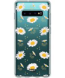 HappyCase Galaxy S10 Flexibel TPU Hoesje Bloemen Print