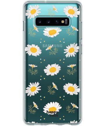 HappyCase Galaxy S10 Flexibel TPU Hoesje Bloemen Print Hoesjes