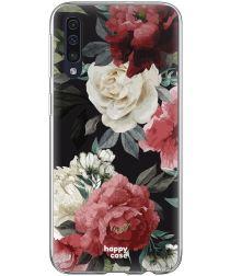 HappyCase Samsung Galaxy A70 Flexibel TPU Hoesje Rozen Print