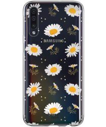 HappyCase Samsung Galaxy A70 Flexibel TPU Hoesje Bloemen Print