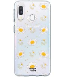 HappyCase Samsung Galaxy A40 Flexibel TPU Hoesje Bloemen Print