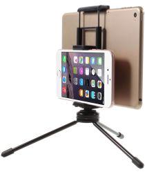 Multi-Functioneel Mini Metalen Tripod Stand Smartphone / Tablet Zwart