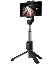 Huawei 2-in-1 Draadloze Bluetooth Camera Tripod / Selfie Stick Zwart