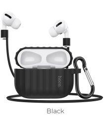 Hoco Fenix Apple AirPods Pro Siliconen Hoesje Zwart
