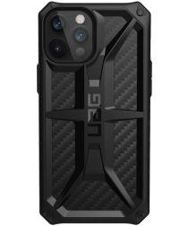 Urban Armor Gear Monarch Apple iPhone 12 Pro Max Hoesje Carbon Fiber