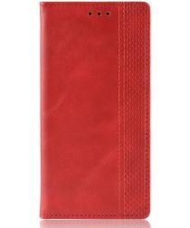OPPO A91 Vintage Portemonnee Hoesje Rood
