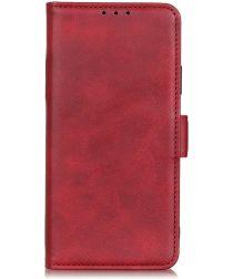 OPPO A52/A72 Hoesje Portemonnee met Standaard Kunstleder Rood