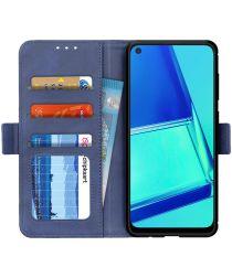 OPPO A52 / A72 Hoesje Portemonnee Kunstleer Book Case Blauw