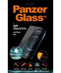 PanzerGlass iPhone 12 / 12 Pro Screenprotector Antibacterieel Zwart