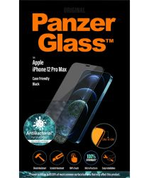 PanzerGlass iPhone 12 Pro Max Case Friendly Screenprotector Zwart