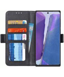Samsung Galaxy Note 20 Hoesje Portemonnee Zwart