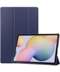 Samsung Galaxy Tab S7 Plus Tri-fold Hoes Donker Blauw