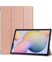 Samsung Galaxy Tab S7 Plus Tri-fold Hoes Goud