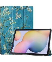 Samsung Galaxy Tab S7 Plus Hoesje Tri-Fold Blossom Print
