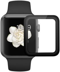 Apple Watch 38MM 2-in-1 Screenprotector 3D Volledig Dekkend Zwart