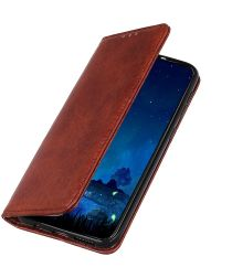OnePlus Nord Book Case Leather Wallet Case Bruin
