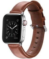 Apple Watch 40MM / 38MM Bandje Echt Leer met Gespsluiting Bruin