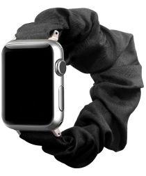 Apple Watch 44MM / 42MM Bandje Elastische Scrunchie Zwart