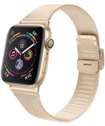 Apple Watch 40MM / 38MM Bandje Milanese Staal met Klemsluiting Goud
