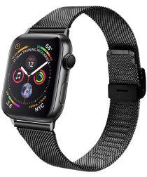 Apple Watch 40MM / 38MM Bandje Milanese Staal met Klemsluiting Zwart