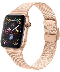 Apple Watch 40MM / 38MM Bandje Milanese Staal met Klemsluiting Rosé