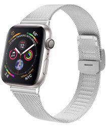 Apple Watch 40MM / 38MM Bandje Milanese Staal met Klemsluiting Zilver
