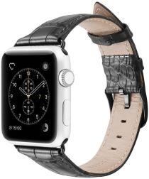 Dux Ducis Crocodile Apple Watch 40MM / 38MM Bandje Echt Leer Zwart